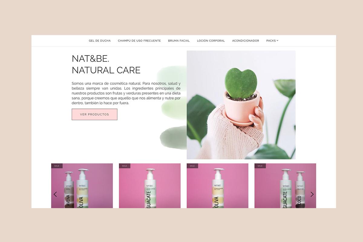 diseño tienda online cosméticos